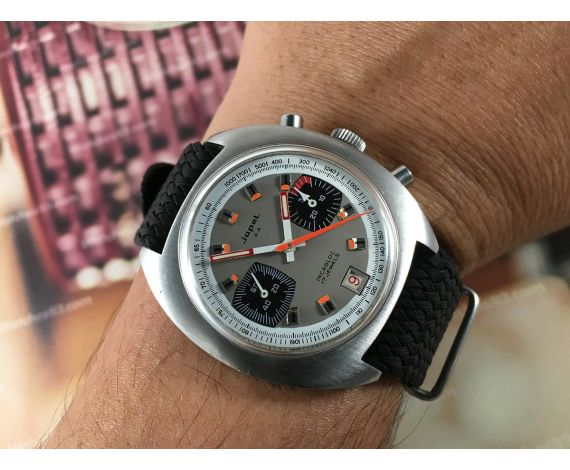 JOPEL Vintage chronograph hand wind watch RACING Valjoux 7734 *** COLLECTORS ***