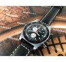 NOS Chateau Reloj cronógrafo suizo antiguo de cuerda Cal Swiss EB 8420 *** NUEVO DE ANTIGUO STOCK ***