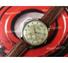 CAUNY Prima La Chaux-de-Fonds Vintage swiss hand wind watch plaqué OR *** OVERSIZE ***