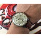 CAUNY Prima La Chaux-de-Fonds Reloj suizo antiguo de cuerda bañado en oro *** Gran Diámetro ***