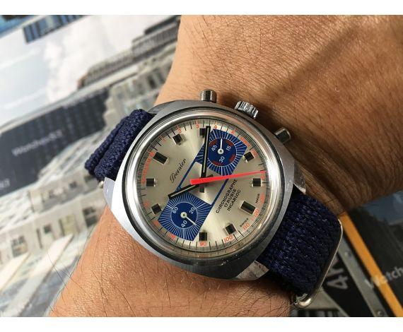 Reloj PREMIER Chronographe cronógrafo antiguo de cuerda Valjoux 7733 *** RACING ***