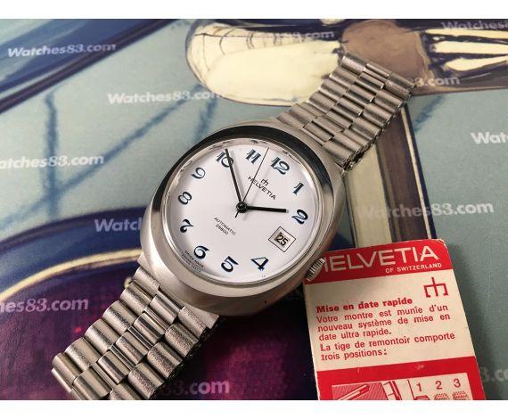 NOS Helvetia Reloj suizo vintage automático 28800 Cal ETA 2784 Nuevo antiguo Stock *** ESPECTACULAR ***