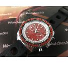 NOS LIP Vintage Chronograph RACING hand wind watch Cal Valjoux 7734 Oversize *** NEW OLD STOCK ***