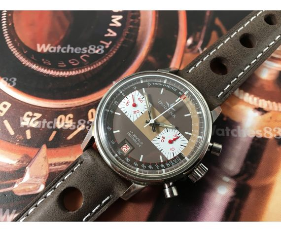 Dugena Cintage swiss chronograph hand winding watch Cal Valjoux 7734 *** MINT ***