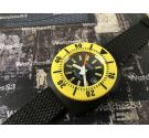 Aquastar SA Genève Glasstar 10 ATM Reloj suizo antiguo automático Yellow Diver *** COLECCIONISTAS ***