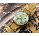 Movado Cal M90 Vintage swiss chronograph hand winding watch GOLD 14K (0.585) *** ONLY COLLECTORS ***