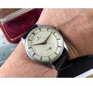 Zenith JUMBO Vintage swiss hand wind watch Cal 126-6 + BOX *** OVERSIZE: 38 MM ***