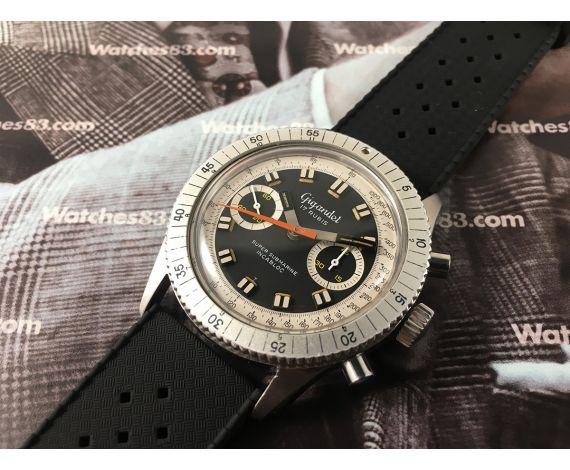 Gigandet SUPER SUBMARINE vintage swiss chronograph hand wind watch DIVER Cal Landeron 248 OVERSIZE *** COLLECTORS ***