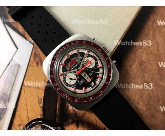 NOS TANIS Racing Team Special Chronograph Vintage swiss manual winding watch Cal Valjoux 7734 *** NEW OLD STOCK ***