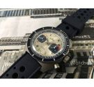 Edox RACING Vintage chronograph hand winding watch Cal Valjoux 7734 SPECTACULAR *** OVERSIZE ***