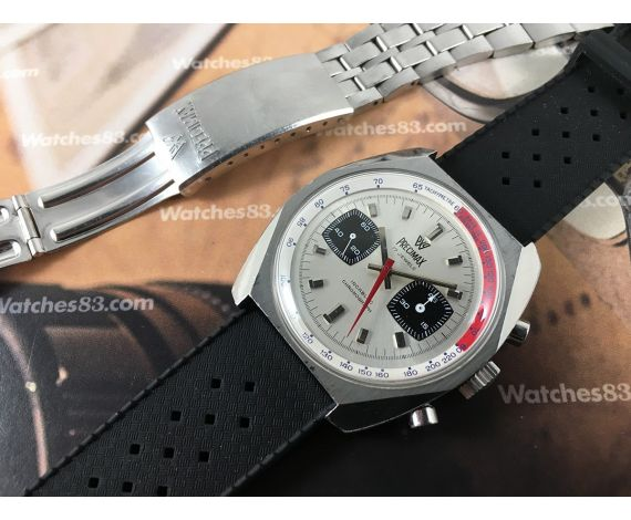 PRECIMAX chronograph vintage manual winding watch Valjoux 7733 RALLYE *** OVERSIZE ***