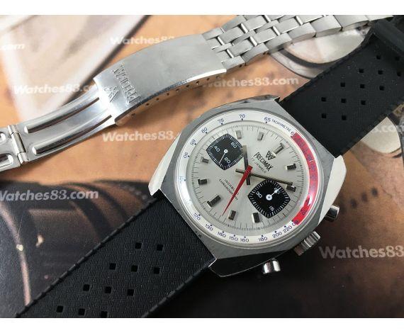 Reloj PRECIMAX cronógrafo antiguo de cuerda Valjoux 7733 RALLYE *** OVERSIZE ***