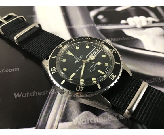 Potens Submarine Diver Vintage swiss automatic watch 25 jewels 4246 W20 *** EXCELLENT CONDITION ***
