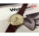 CAUNY CARAVELA Prima La Chaux-de-Fonds Vintage swiss hand wind watch Plaqué OR OVERSIZE 40mm *** COLLECTORS ***
