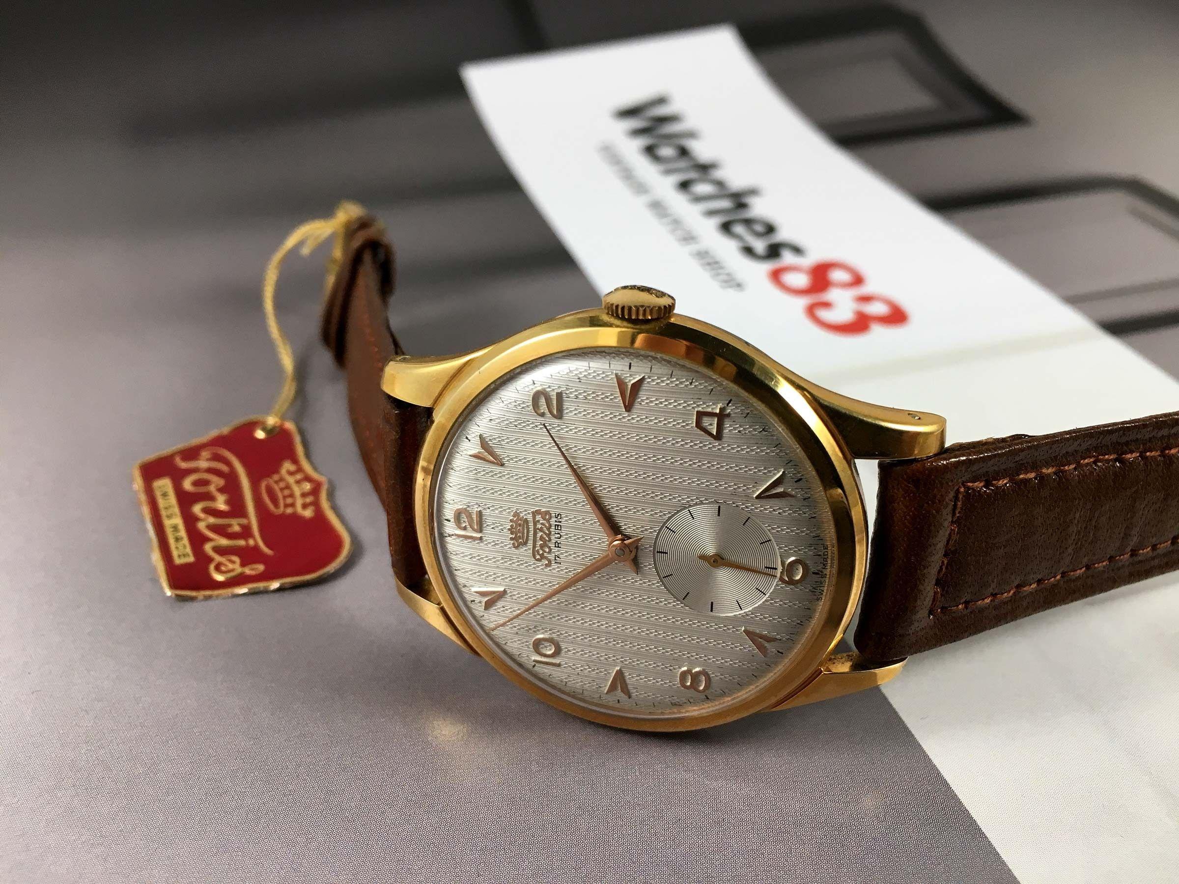 895f190e1 NOS Fortis Reloj suizo antiguo de cuerda OVERSIZE 38 mm Cal AS1130 17 rubis  * ...