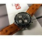 Gallet MultiChron Pilot Chronograph Vintage manual wind watch Cal Valjoux 7736 Reverse panda dial *** COLLECTORS ***