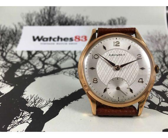 Crysrey Reloj suizo antiguo de cuerda OVERSIZE 42,8 mm Cal AS1067 *** NUEVO DE ANTIGUO STOCK ***