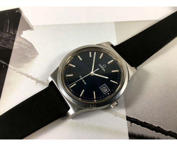 Omega Geneve Vintage swiss manual wind watch Ref 136.0102 Cal 1030 Blue Dial *** BEAUTIFUL ***