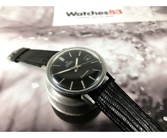 Omega Seamaster Vintage swiss automatic watch Cal 1010 Ref 166.0202 Black Dial *** SPECTACULAR ***