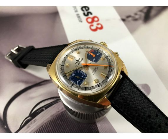 Dugena Racing Vintage swiss chronograph hand wind watch Cal Valjoux 7733 *** RALLYE ***