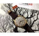 NOS LANDI Vintage swiss manual wind watch OVERSIZE Cal AS1130 Textured Dial *** NEW OLD STOCK ***