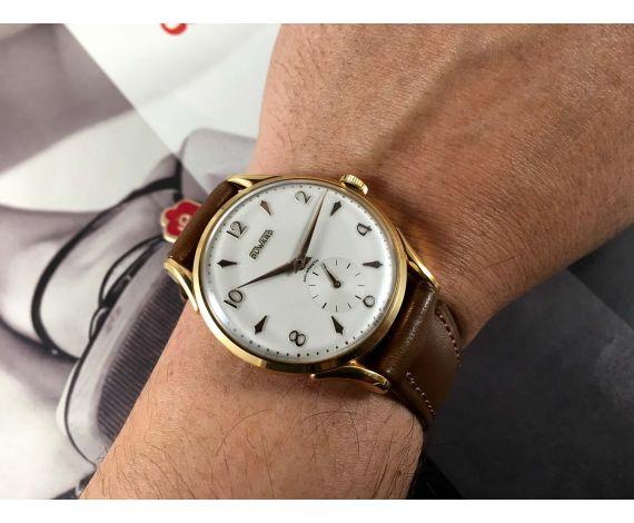 NOS Reloj Duward suizo antiguo de cuerda. Oversize: 38 mm. Nuevo de antiguo Stock *** MARAVILLOSO ***