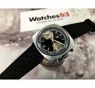 LIP Reloj Cronografo antiguo de cuerda Valjoux 7734 Oversize Racing Esfera negra *** PRECIOSO ***