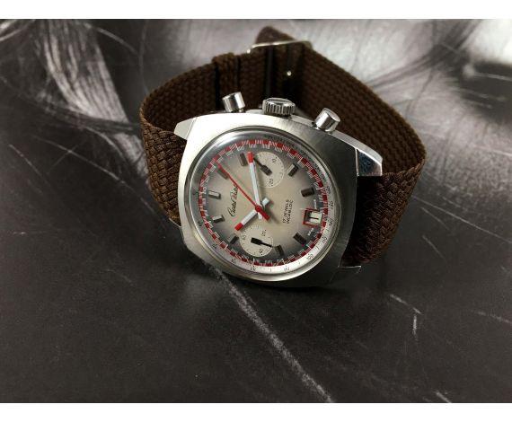 Cristal Watch RACING Reloj vintage cronógrafo de cuerda Cal Valjoux 7734 *** ESPECTACULAR ***