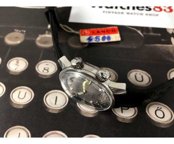 LANCO Barracuda Super Compressor Reloj suizo antiguo automático 25 jewels Ref 3001 *** NUEVO DE ANTIGUO STOCK ***