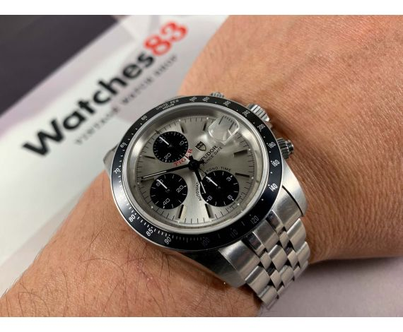 Tudor Prince Date TIGER Ref. 79260 Vintage automatic watch Dial Panda Cal Valjoux 7750 *** SPECTACULAR ***