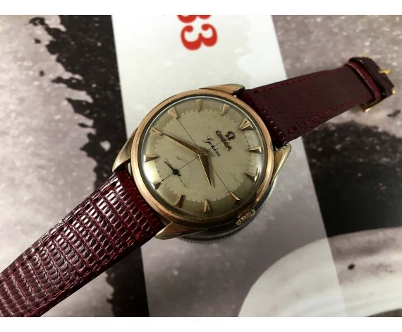 Omega Geneve Vintage swiss hand wind watch Cal 267 Ref 2903-1 Plaqué OR *** CROSSHAIR ***