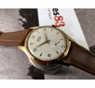 NOS Fortis FURORA Reloj suizo antiguo de cuerda OVERSIZE 38 mm Cal AS1130 17 jewels Plaqué OR *** NUEVO ANTIGUO STOCK ***