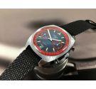 PALLAS Reloj Cronografo antiguo de cuerda Valjoux 7734 Oversize Racing Esfera negra *** PRECIOSO ***