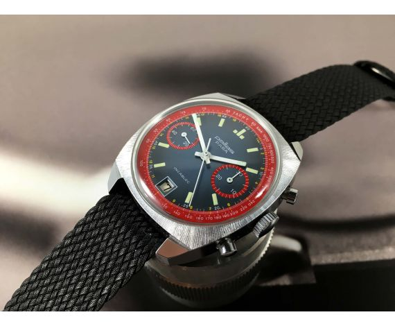 LIP Vintage Chronograph hand winding watch Valjoux 7734 Oversize RACING Black Dial *** BEAUTIFUL ***