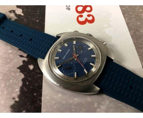 SANDOZ Vintage chronograph swiss hand wind watch Cal Valjoux 7733 *** OVERSIZE ***