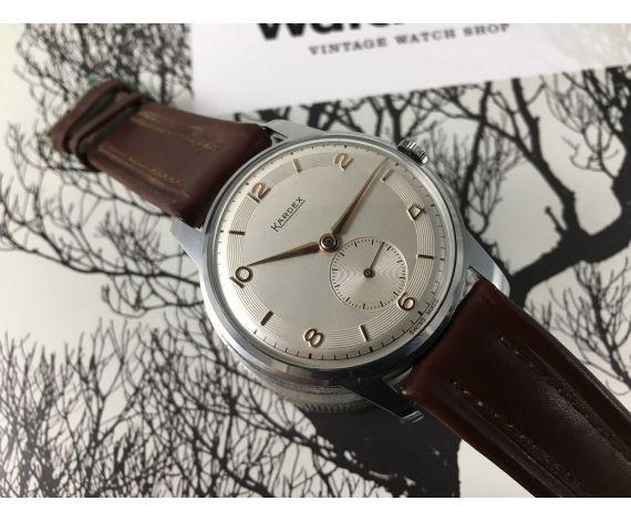 NOS KARDEX Reloj suizo vintage de cuerda NUEVO DE ANTIGUO STOCK Cal. FHF 26*** GRAN DIÁMETRO ***