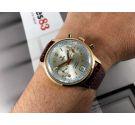 Yema Reloj cronógrafo antiguo de cuerda Cal 7734 plaqué or *** PRECIOSO ***