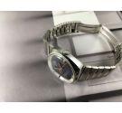Potens de Luxe Reloj suizo automático vintage 25 jewels Dial azul *** OVERSIZE ***