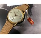 NOS LANDI Antimagnetic Plaqué OR Vintage swiss hand wind watch OVERSIZE Cal. AS 1130 *** NEW OLD STOCK ***