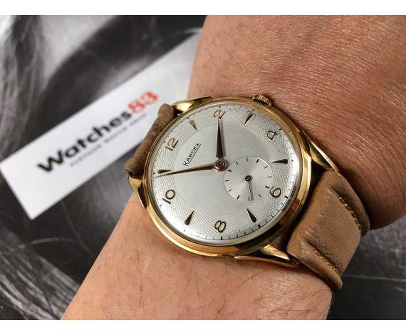 NOS KARDEX Reloj suizo vintage de cuerda OVERSIZE Plaqué OR *** NUEVO DE ANTIGUO STOCK ***