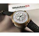 Verbania Chronometre Chronographe Reloj vintage Cronógrafo de trinchera suizo antiguo de cuerda *** GRAN DIÁMETRO ***