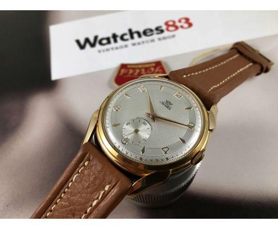 NUEVO ANTIGUO STOCK Fortis Reloj suizo antiguo de cuerda OVERSIZE 38 mm Antimagnetic PLAQUÉ OR *** NOS ***