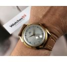 NEW OLD STOCK Fortis Vintage swiss manual wind watch OVERSIZE 38 mm Antimagnetic PLAQUÉ OR *** NOS ***