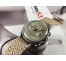 BERNA WATCH Vintage swiss chronograph hand wind watch Cal Valjoux 22 *** BEAUTIFUL PATINA ***