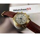 Maurice Lacroix Reloj antiguo cronógrafo automático Cal Valjoux 7750 Ref 39353 + Estuche + Papeles