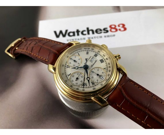 Maurice Lacroix automatic Vintage watch chronograph Cal Valjoux 7750 Ref 39353 + BOX + Papers