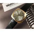NOS LIP Vintage swiss made hand winding chronograph watch Venus 188 Laminate GOLD 20 microns *** NEW OLD STOCK ***