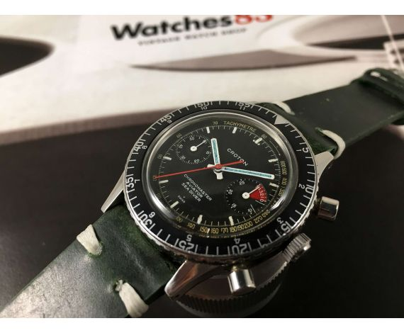 CROTON Chronomaster Aviator Sea Diver Reloj vintage cronógrafo de cuerda Cal Valjoux 23 *** ESPECTACULAR ***