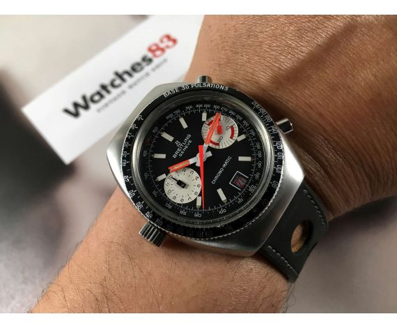 7bbd9e8cad45 Breitling Chrono-Matic Ref 2114 Reloj Vintage cronógrafo suizo automatico  Cal 11 ...