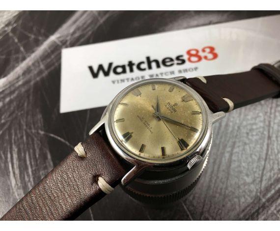 cc2ffe0e9d3d Reloj suizo antiguo de cuerda Rolex Tudor Aqua Geneve Suisse Cal 2402      PÁTINA ...